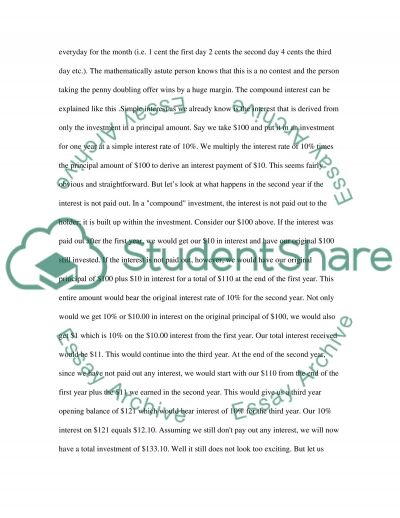 Compound Interest and the Power of Saving essay example