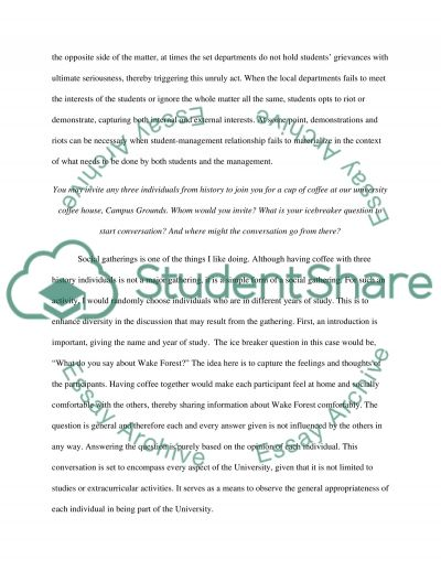 Wake Forest Admission/Application Essay example