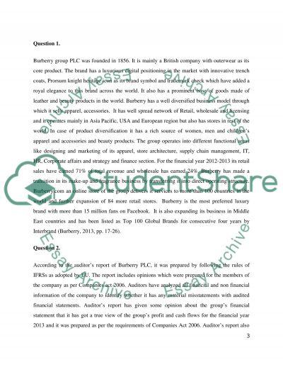 Burberry essay example