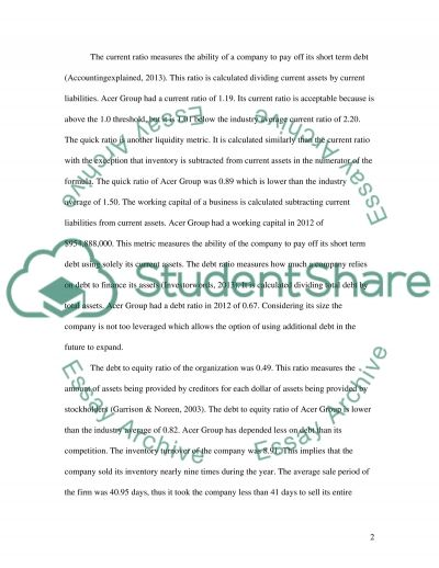 Business Accounting essay example