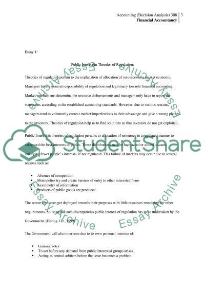 Public Interest in Theories of Regulation essay example