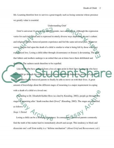 Coping with the Death of Own Child essay example