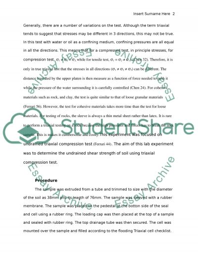 Triaxial essay example