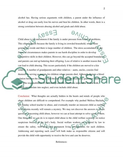 WHY WE ABUSE OUR CHILDREN essay example