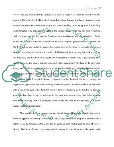 Literary analysis: Whos Irish by Gish Jen