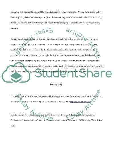 Personal Career Analysis: Elemenarty Teacher