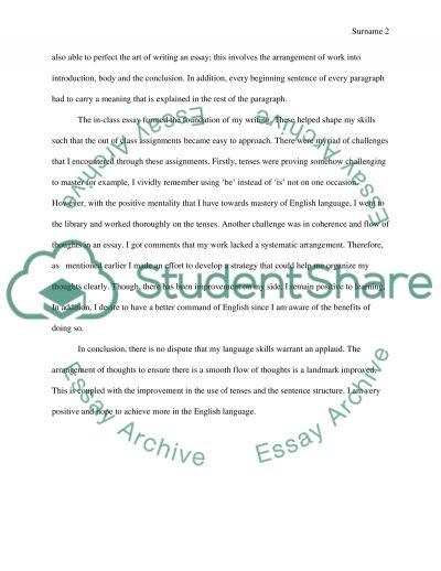 English Language Mastery essay example
