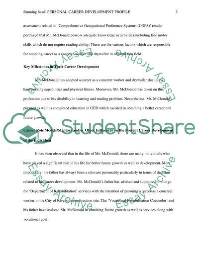 comprehensive career assessment paper