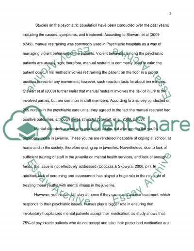 Improving health for the psychiatric population essay example