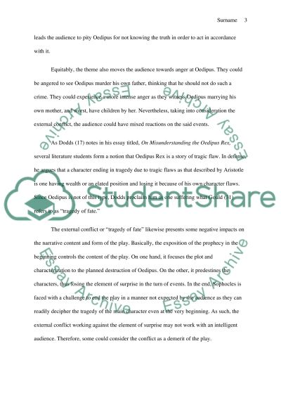 the external conflict in oedipus man vs fate research paper  text preview