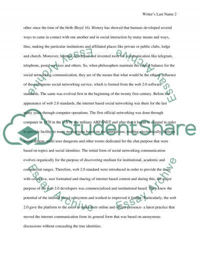 Ethics of social media essay example