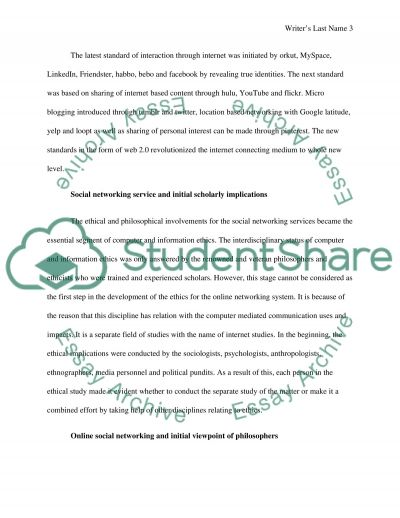 Revealing personal information facebook essay