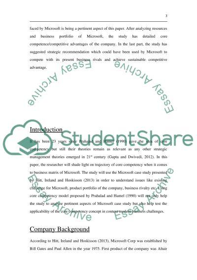 STRATEGIC MANAGEMENT essay example