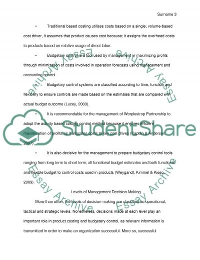 Preliminary Analysis of Cost and Budgetary Information Systems essay example