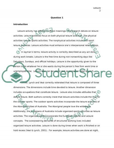 Tourism essay example