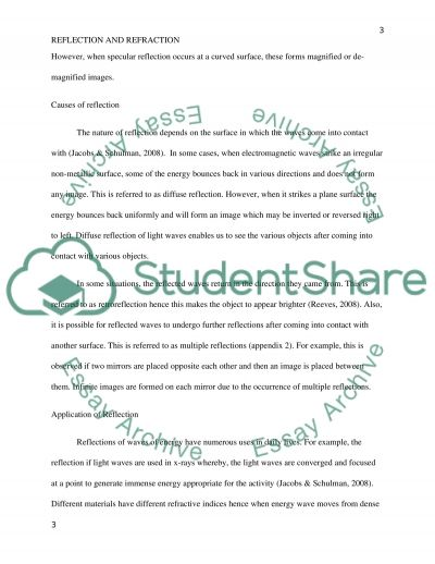 Reflection and Refraction essay example