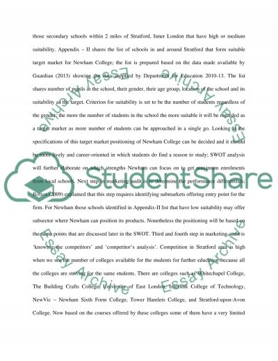 principles of marketing Essay example
