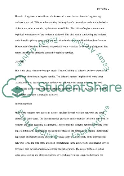 Custmer and supplier essay example