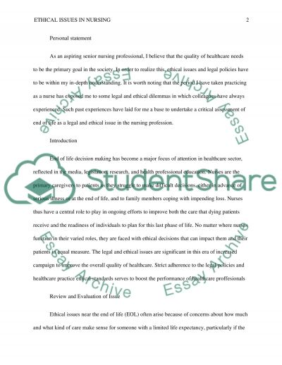 Ethical Issue essay example