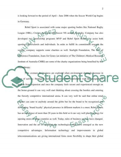 International Business Assignment essay example