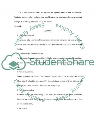Consumption and its effects on the environment essay example