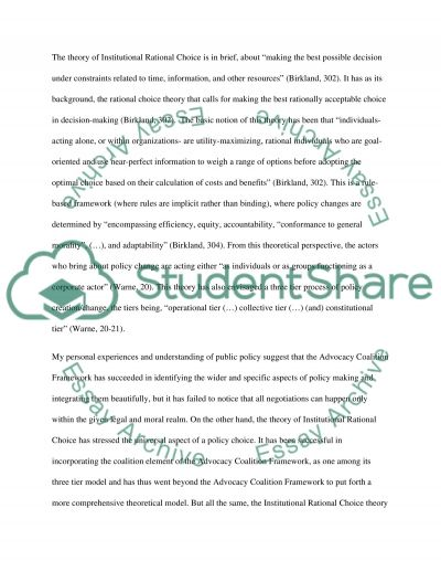 Public Policy Analysis essay example