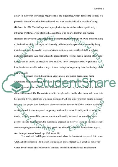 Two Fundamental Conditions Determine What Each One of US Can Become essay example