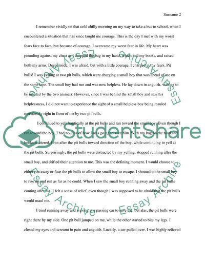 Memorable event essay