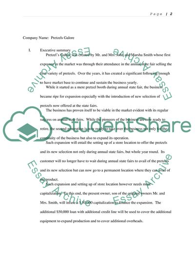 business plan essay example  topics and well written essays    business plan