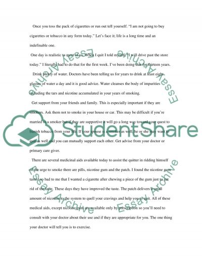 Banishing tobacco, how to quit smoking essay example