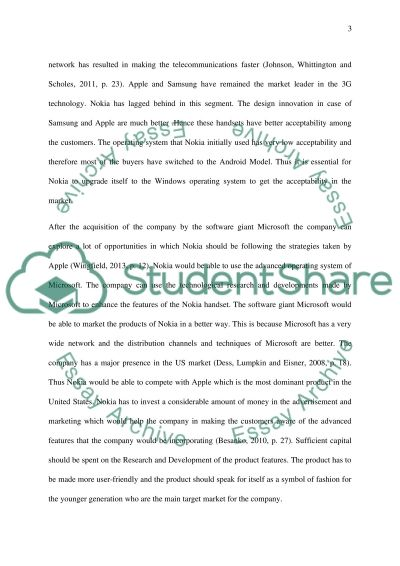 Strategy briefing paper regarding the strategic issue Essay example