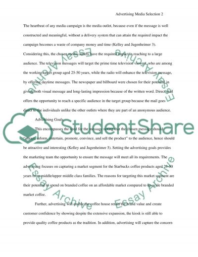 Advertising media selection essay example