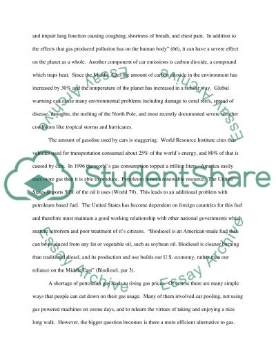 Environmentally Friendly Sources of Energy essay example