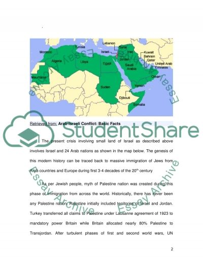 What are the roots of the Arab-Israeli Conflict essay example
