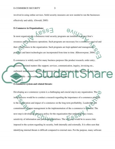 e commerce security essay