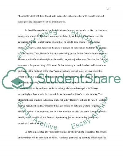 Hamlet High School Essay essay example