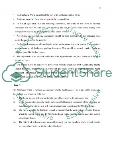 Cost Management I.P 2 Essay example