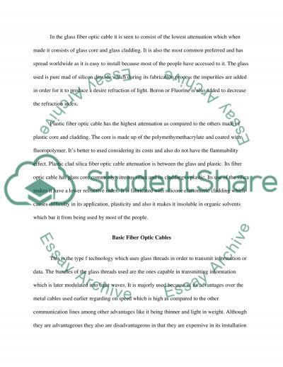 Fibre optics essay example