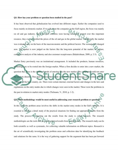 Research Methods Essay example