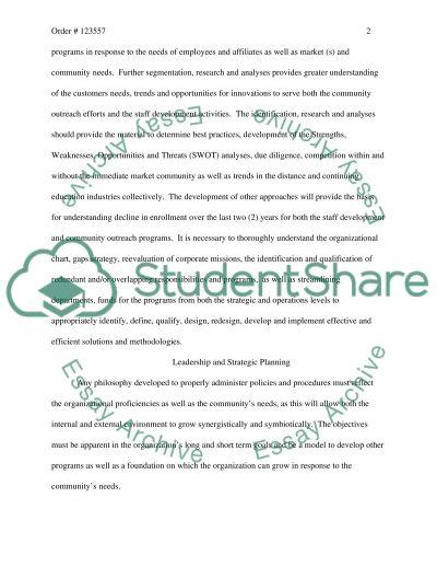Organizational Case Study essay example