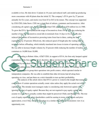 Article review for managerial accounting