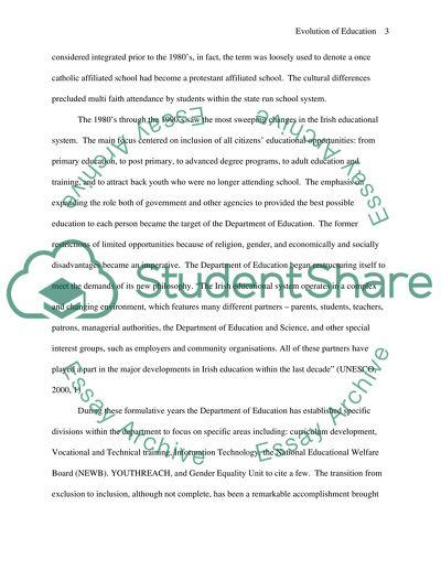 Evolution of Ireland Education System