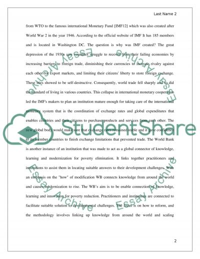 Advantages and Disadvantages of International Economic Institutions essay example