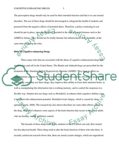 Cognitive Enhancing Drugs Essay Example Topics And Well Written
