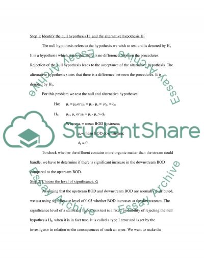 Advanced Hypothesis Testing Paper essay example
