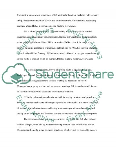 Essay principles of care management for the patient with Chronic Heart Failure essay example
