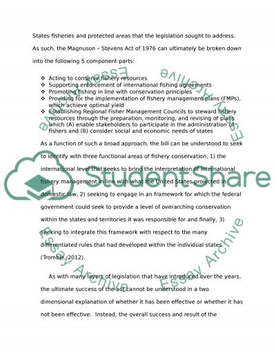 Enviromental Policy and Regulation essay example