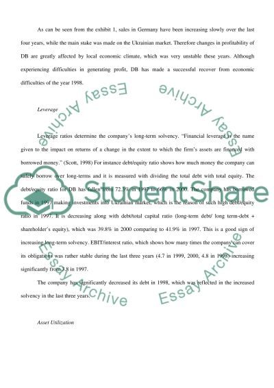 Case Study on Profitability essay example