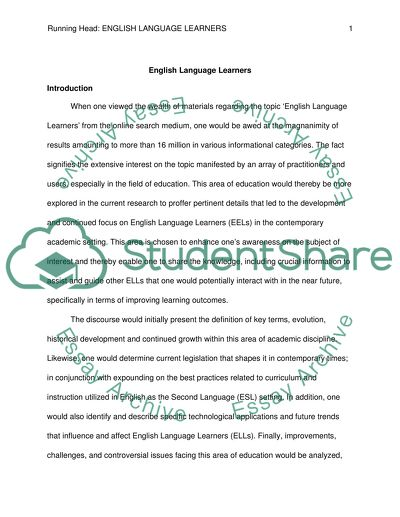 english language research topics