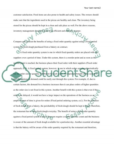 Inventory Management essay example